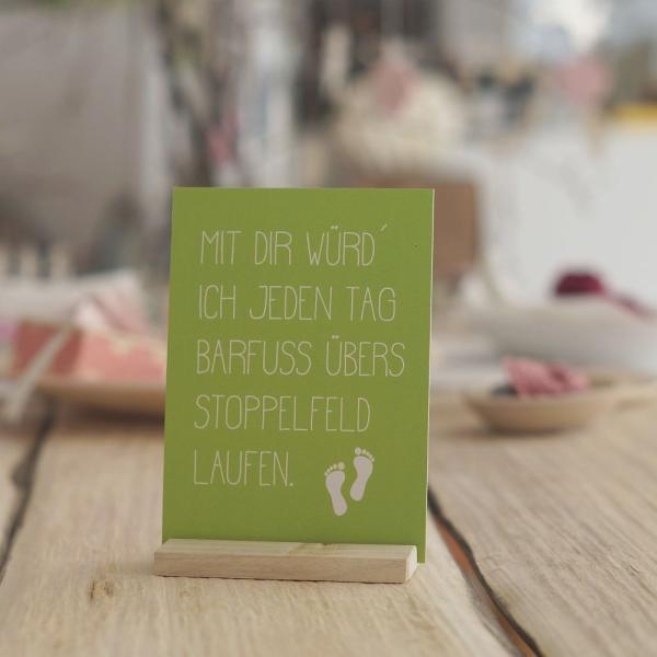 (05005) Postkarte Stoppelfeld