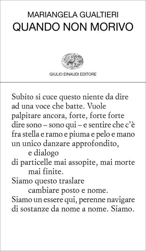 Mariangela Gualtieri - Quando non morivo